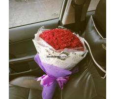 Hoa bó tròn đẹp - HT108