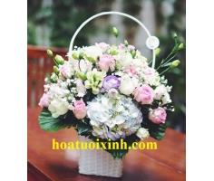 Giỏ hoa đẹp - HT372