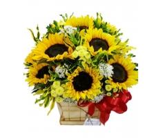 Giỏ hoa hướng dương - HT74