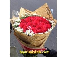 Bó hoa hồng đỏ - HT241