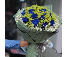 Bó hoa hồng xanh - HT65
