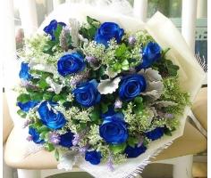 Bó hoa hồng xanh - HT64