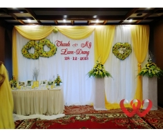 Hoa sân khấu đám cưới - HT296